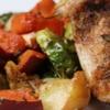 Préparation délicieuse de poulet et de légumes