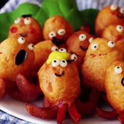 Magnifique recette de saucisses en forme de petit poulpes