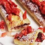 Recette de magnifiques roulés chocolat fraises