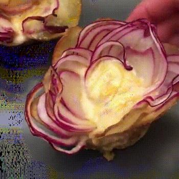 Délicieuse recette de Tartiflette en forme de rose