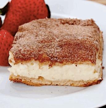 Recette géniale de barres de Cheesecake à la cannelle