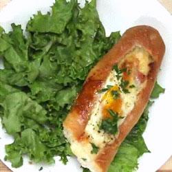 Délicieuse recette de baguette fourrée façon croque madame