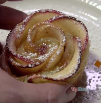 Recette des galettes aux pommes en forme de roses