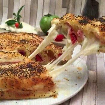 Très belle recette de tarte à la mozzarella en tourbillon