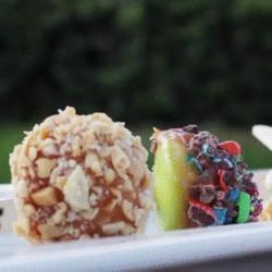 Superbes petites sucettes de pomme au caramel