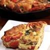 Recette très simple et facile d'omelette au fromage et tomates