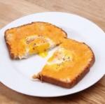 Recette de toast au oeufs et au fromage en 5 minutes