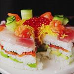 Délicieuse recette originale de gâteau aux sushis