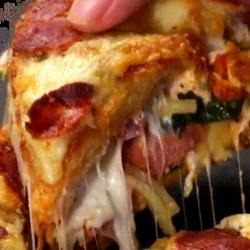 Recette incroyable de pain pizza