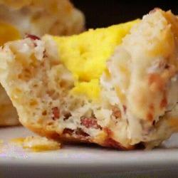 Recette originale de muffins salés fourrés aux oeufs