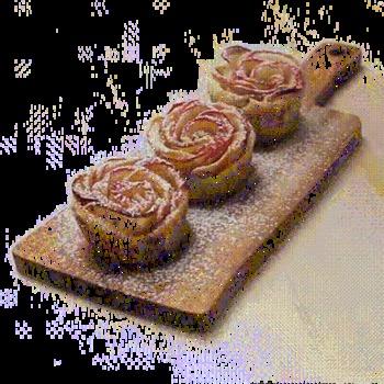Délicieuse tarte en forme de roses aux Speculoos